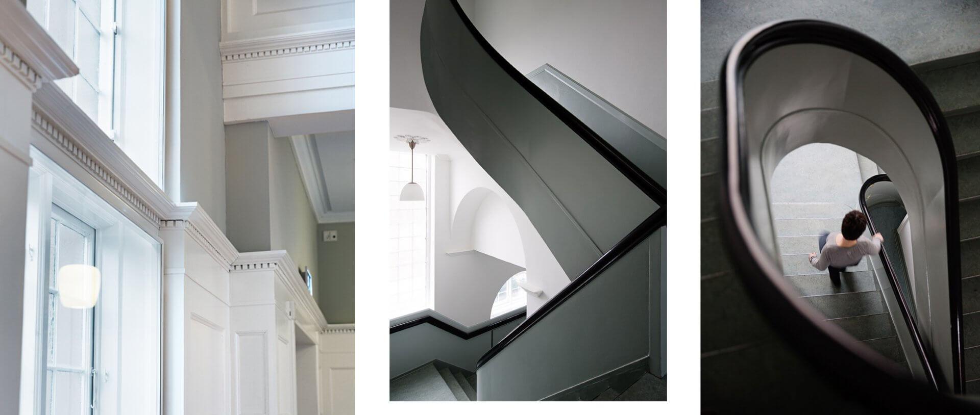 Farvesætning af trapper og paneler